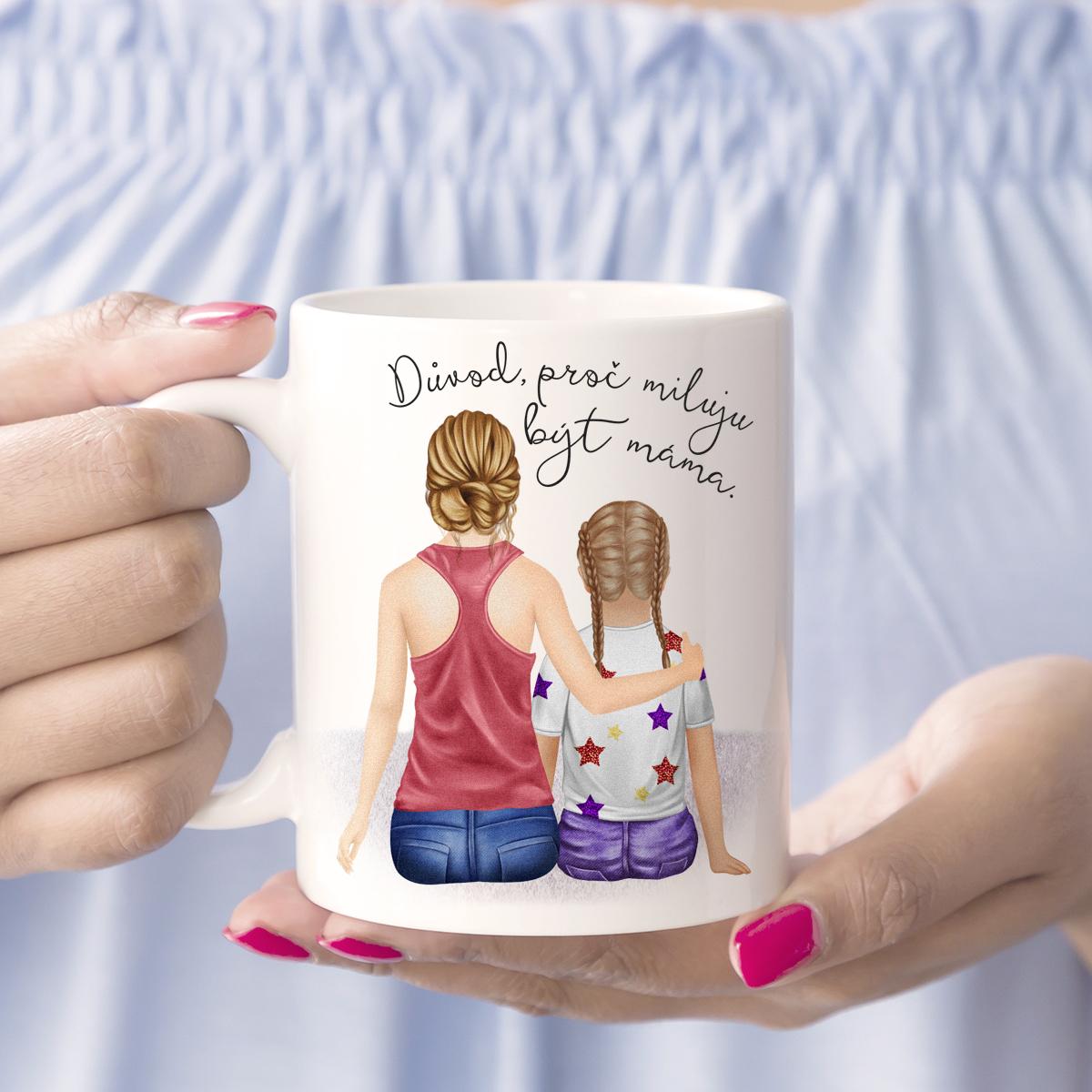 """HOUSEDECOR Hrnek """"Miluju být máma"""" - varianta dcera"""