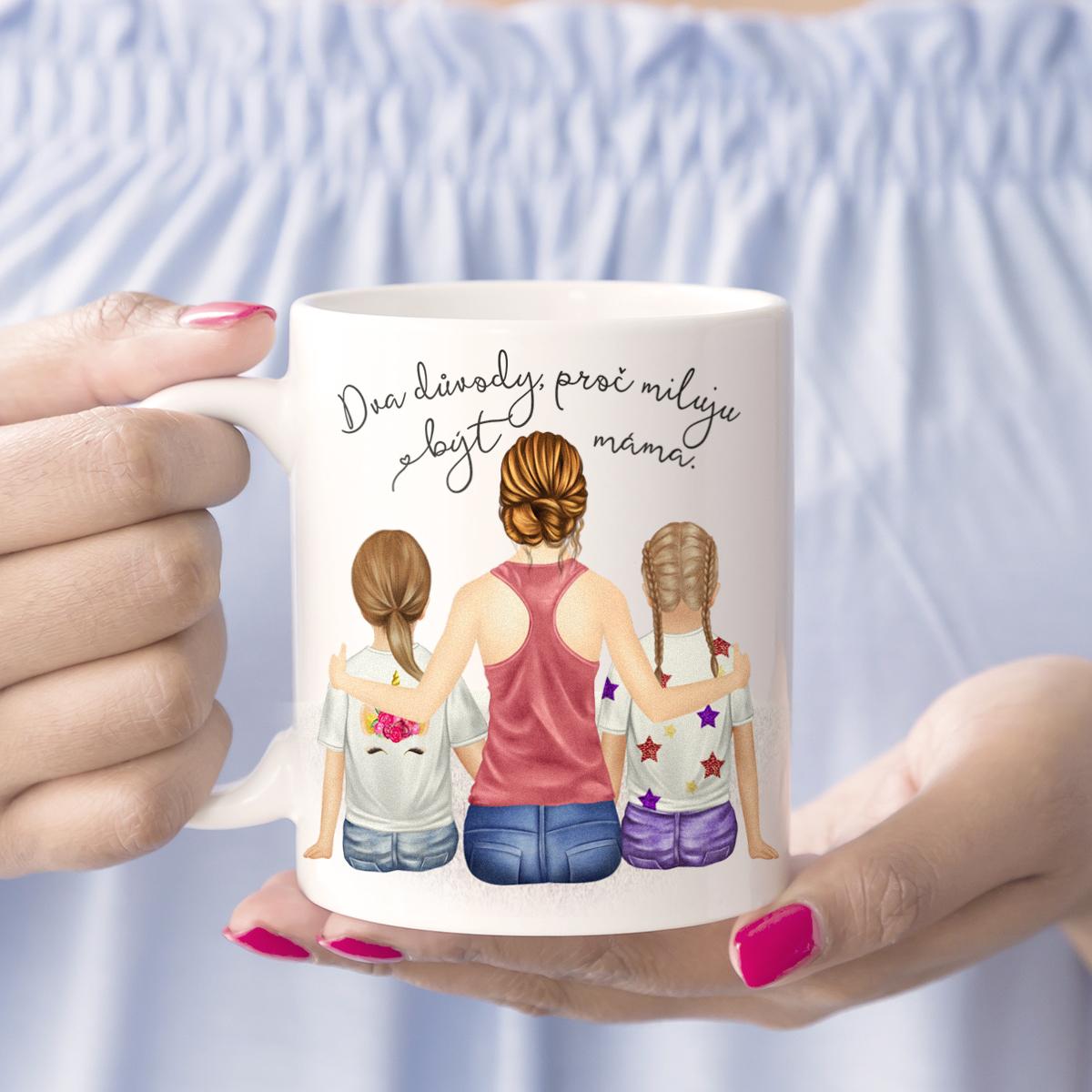 """HOUSEDECOR Hrnek """"Miluju být máma"""" - varianta dcera, dcera"""