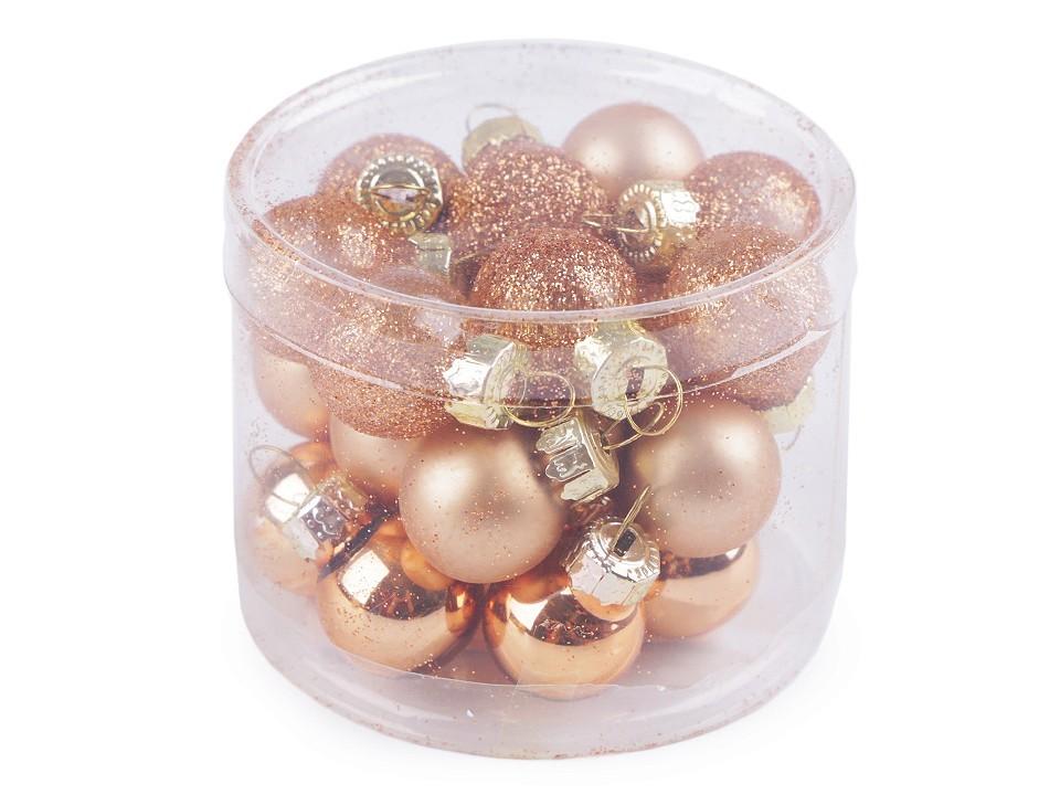 Vánoční baňky - zlatý set 24 ks