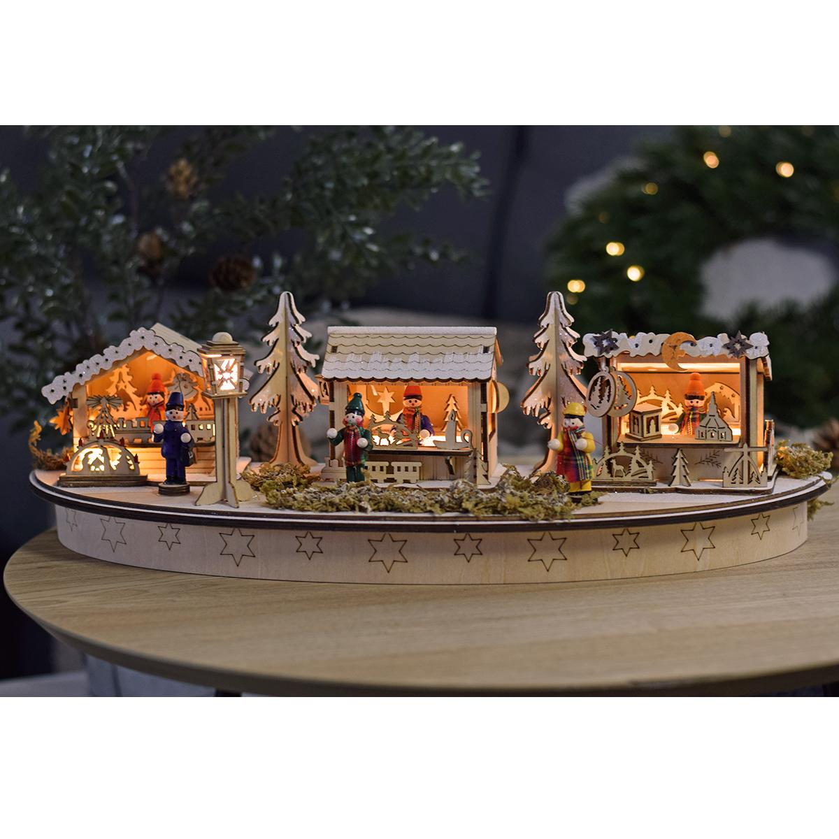 LED dekorace - Vánoční trhy