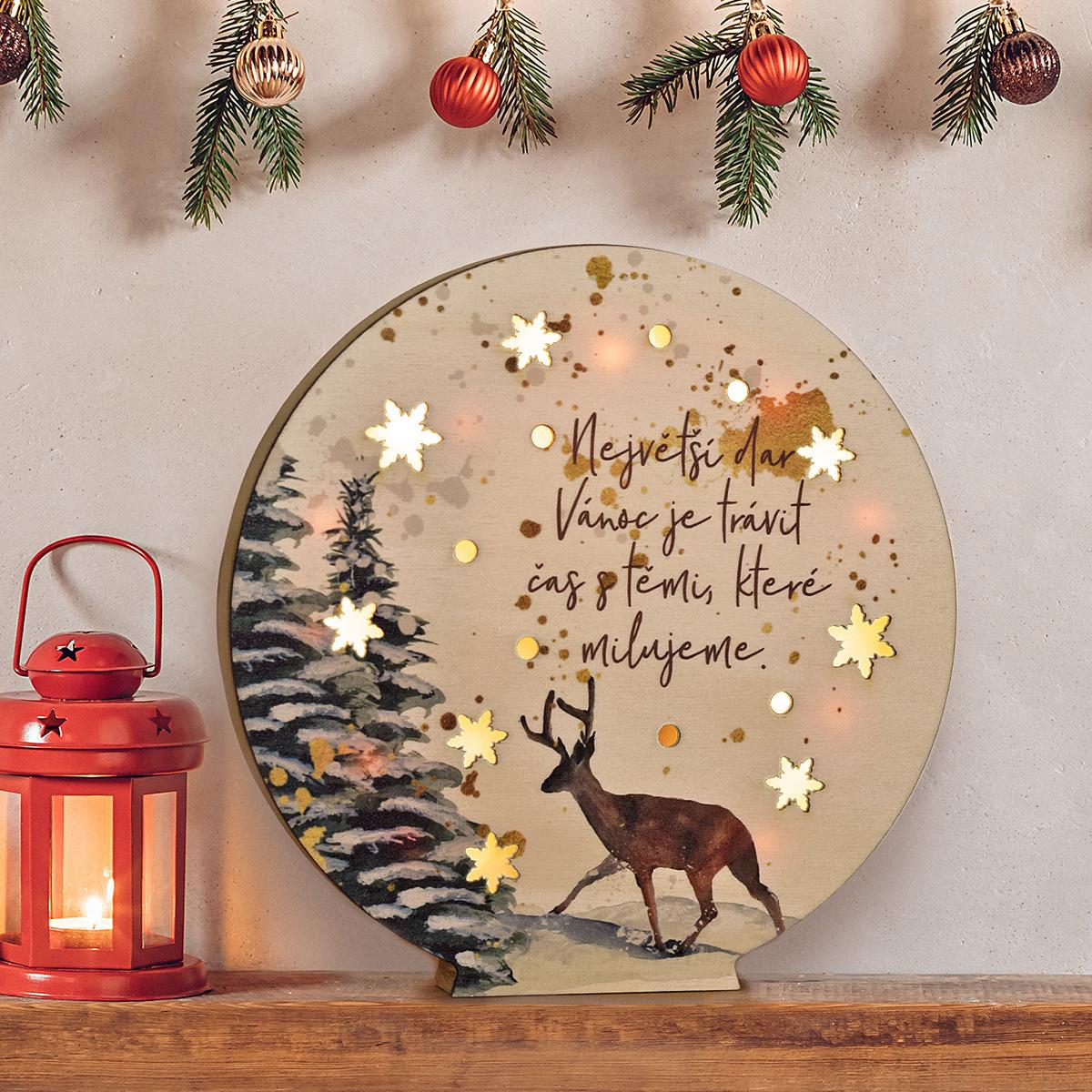 """HOUSEDECOR LED dekorace koule - """"Největší dar Vánoc."""""""
