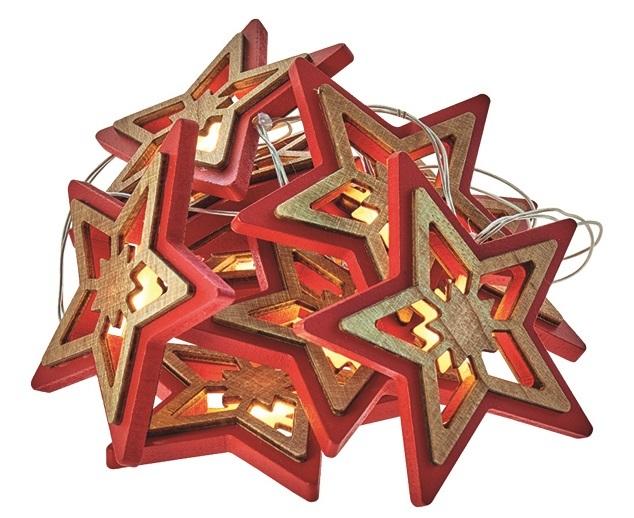 LED Osvětlení - červená hvězda