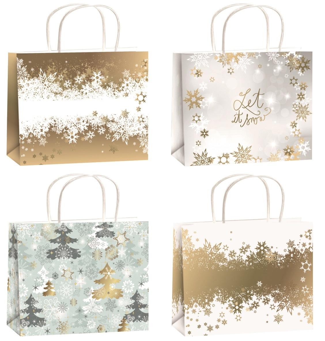 Dárková taška - 4 designy na výběr bílo-zlatá Barva