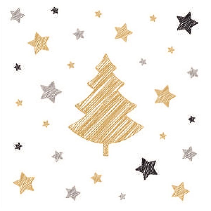 Ubrousky - Stromeček a hvězdičky