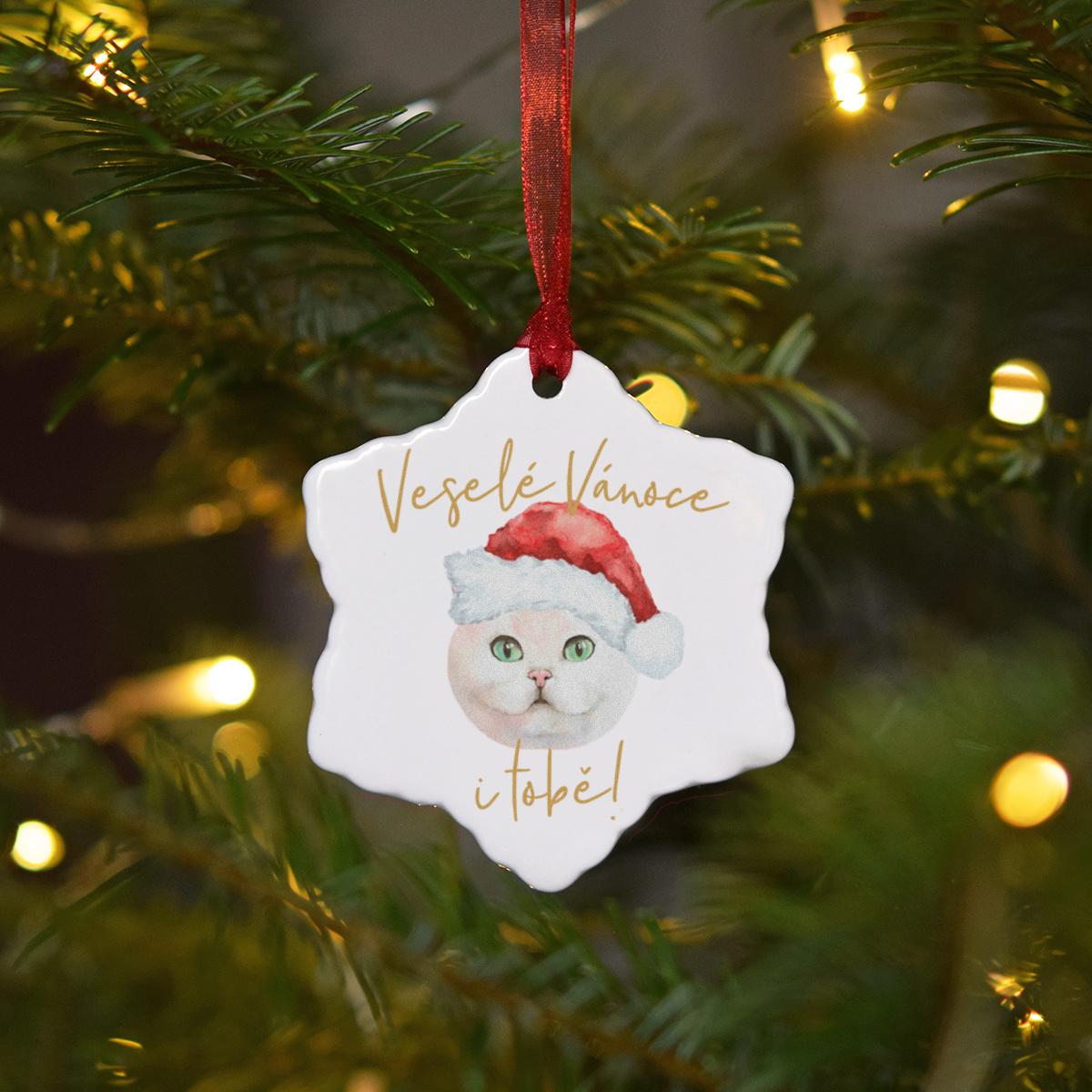 HOUSEDECOR Keramická ozdoba - Kočička bílá