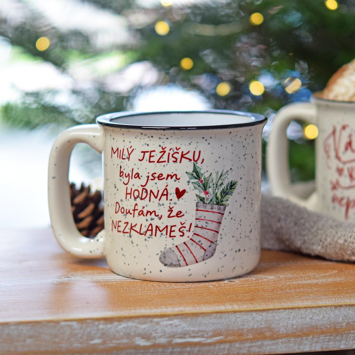 """HOUSEDECOR Vánoční hrnek - """"Milý Ježíšku..."""""""