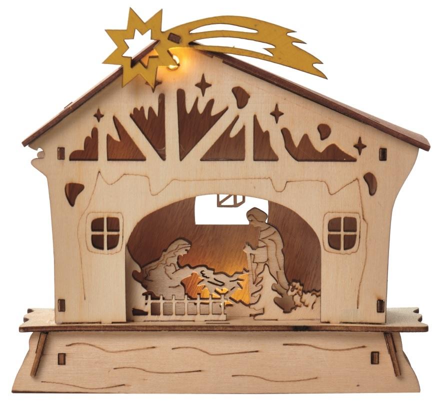 Dřevěný betlém - Vánoce