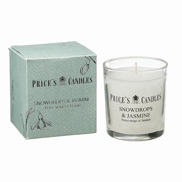 Svíčka Prices - Sněženky a vanilka