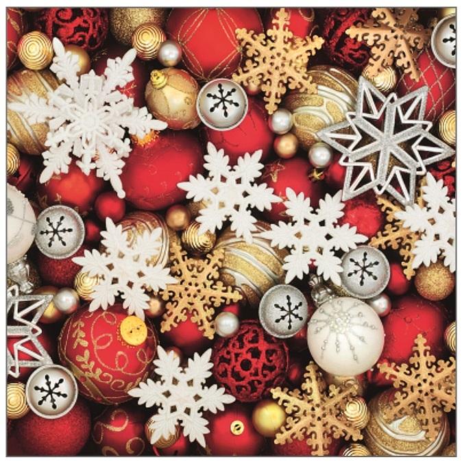 Vánoční ubrousky - Ozdoby a baňky