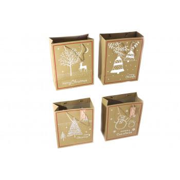 Dárková taška - Merry Christmas - 4 designy na výběr Sněhulák Barva