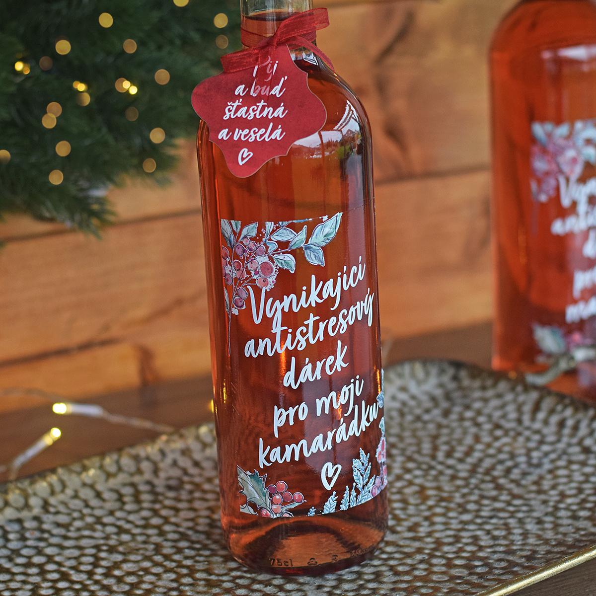 HOUSEDECOR Dárkové víno - pro kamarádku