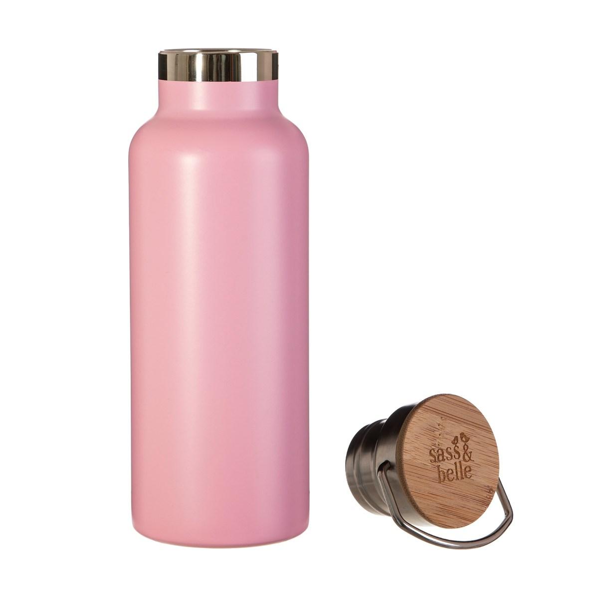 Ocelová láhev - růžová