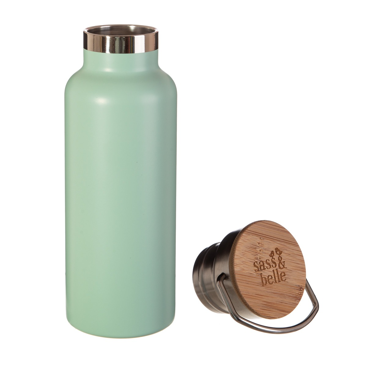 Ocelová láhev - zelená