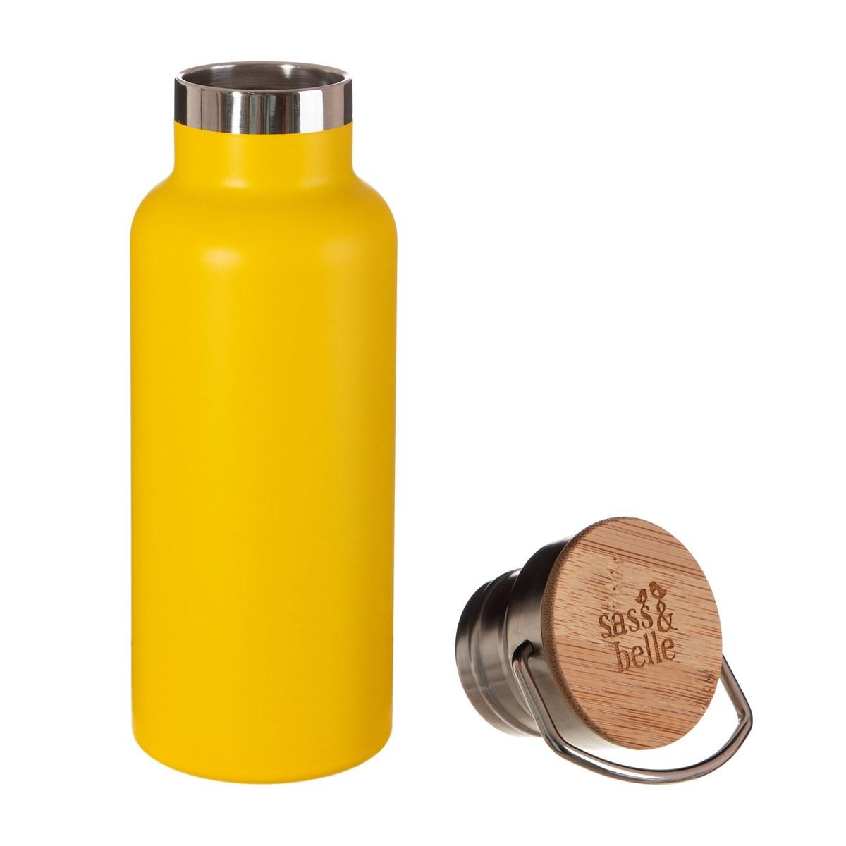 Ocelová láhev - žlutá