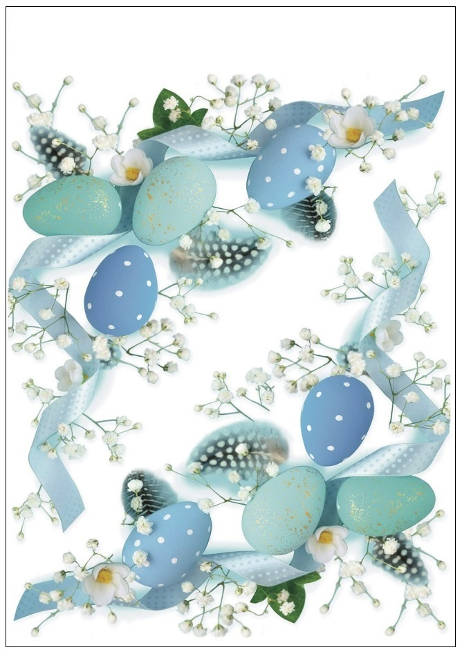 Samolepka na sklo - rohová modrá