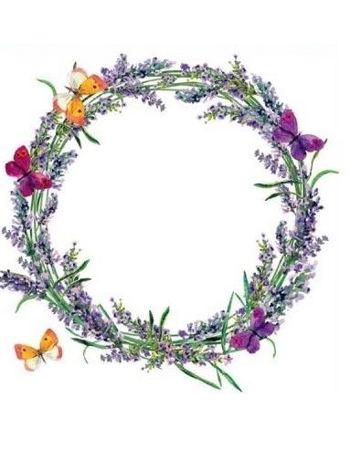 Okenní fólie - levandulový věnec