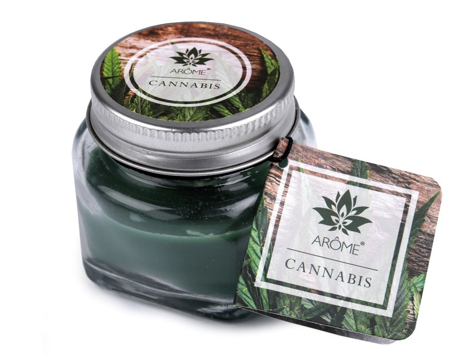 Vonná svíčka ve skle - Cannabis