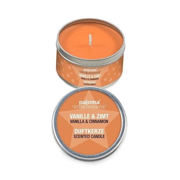Vonná svíčka v plechovce - Vanilka a skořice