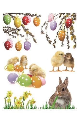 Okenní fólie - kuřátka a zajíček