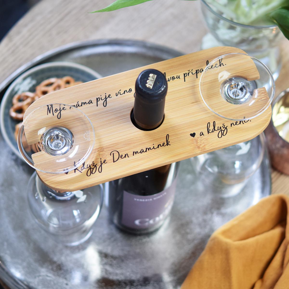 HOUSEDECOR Držák na sklenice na víno - Pro maminku