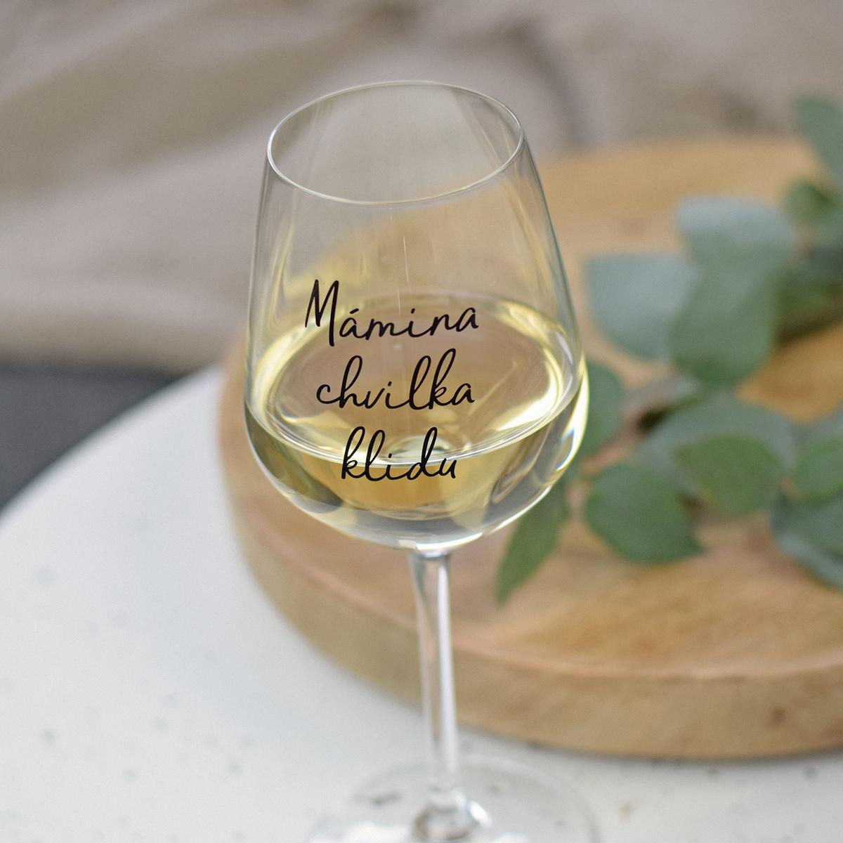 HOUSEDECOR Sklenice na víno - Mámina chvilka klidu