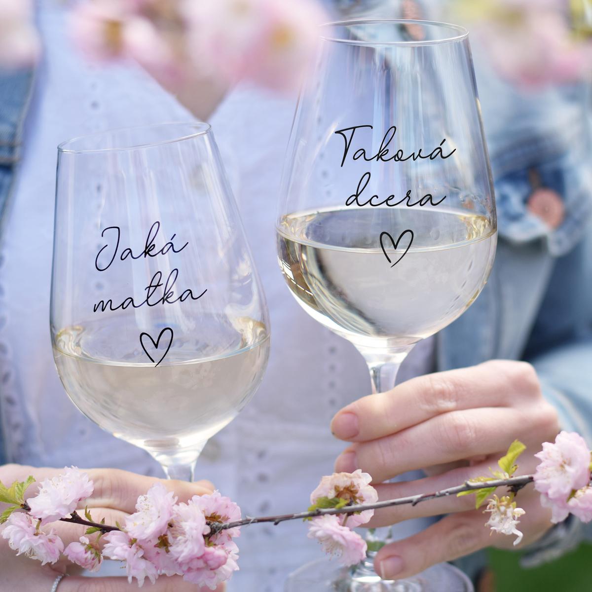 HOUSEDECOR Set sklenic na víno - Jaká matka. Taková dcera.