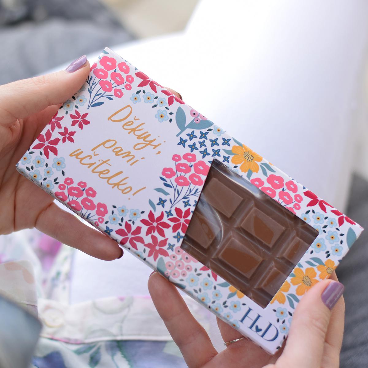 HOUSEDECOR Mléčná čokoláda - Děkuji, paní učitelko!
