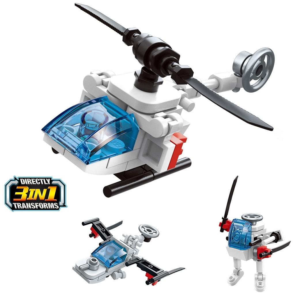 Stavebnice - 3in1 2104-8 Vrtulník Aid 3v1