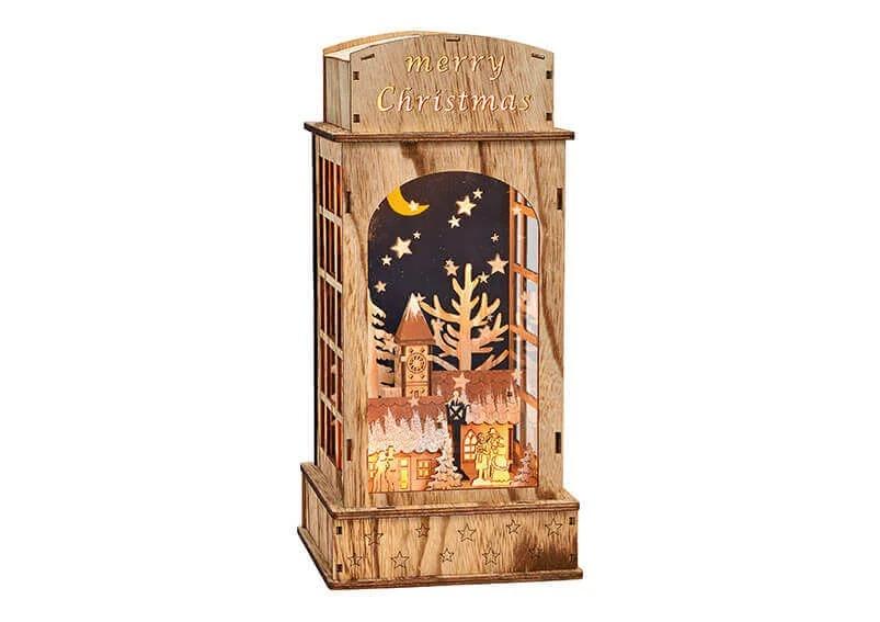 Dřevěná zimní dekorace - zimní krajina