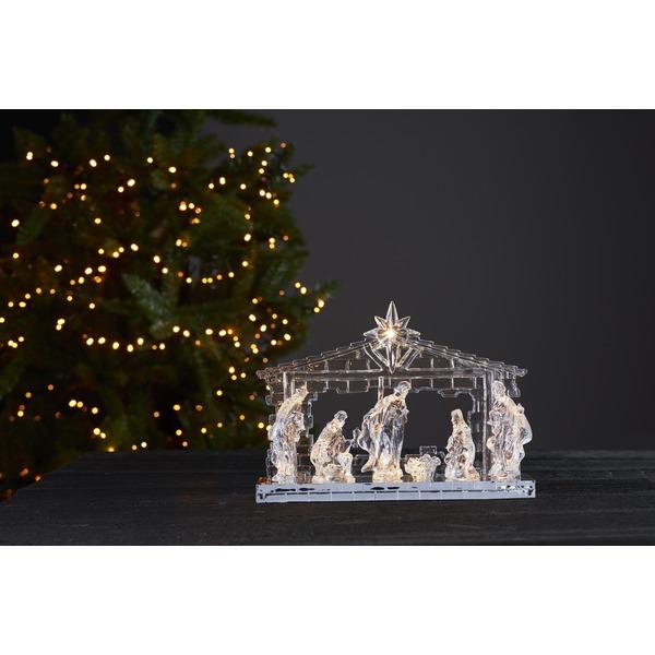 LED dekorace - svítící betlém