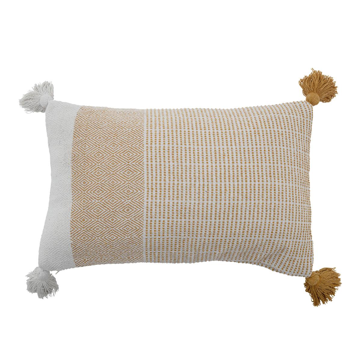 Demi polštářek, žlutý, recyklovaná bavlna