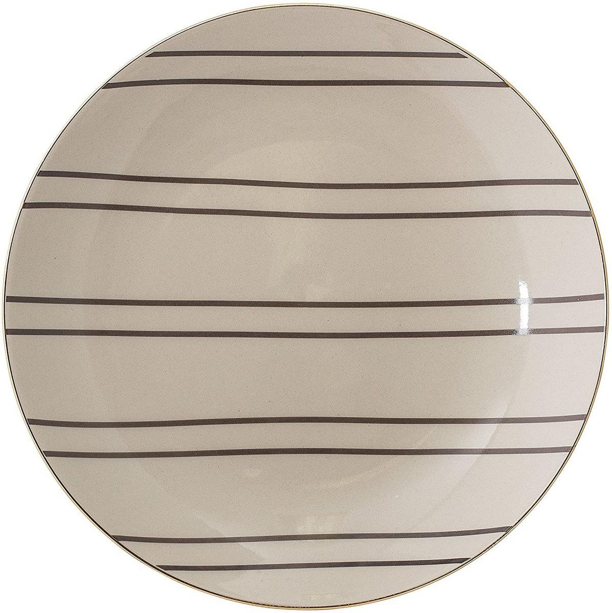 Ava talíř se zlatým lemováním - střední velikost