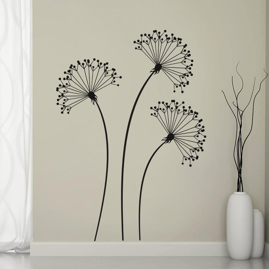 HOUSEDECOR 3 černé květiny