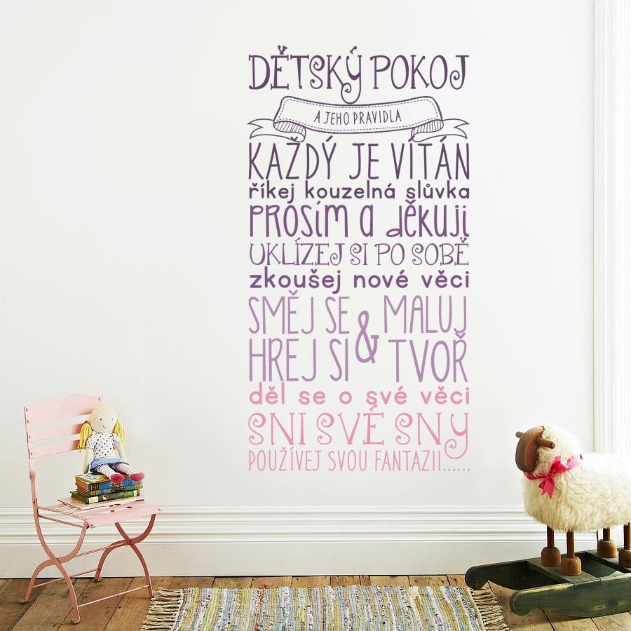 HOUSEDECOR Pravidla dětského pokojíčku - barevné